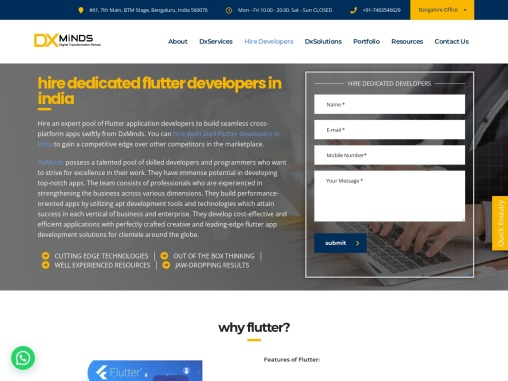 Hire Flutter developers in India | DxMinds