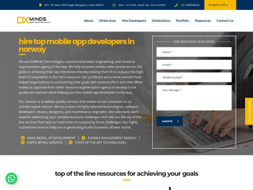 hire mobile app developers in Norway |  DxMinds