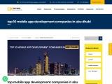 Mobile App Development Companies in Abu Dhabi