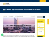 Top Mobile App Development Companies in Saudi Arabia