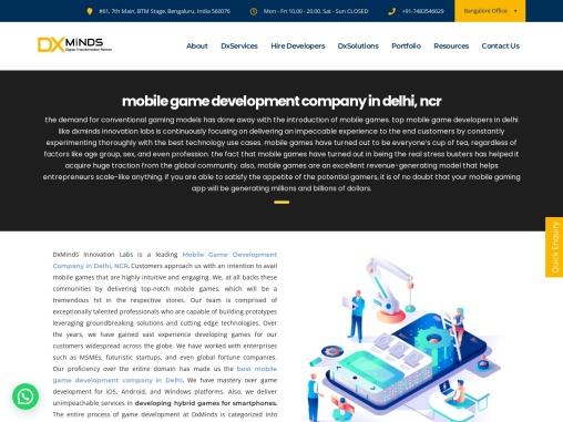 Mobile Game Development Company in Delhi