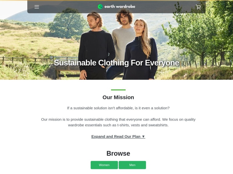 Earth Wardrobe Discount Codes screenshot
