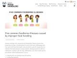 Five common foodborne illnesses caused by improper food handling