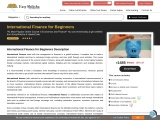 Online Crouse and finance international