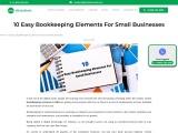 10 Easy Bookkeeping Elements For Small Businesses