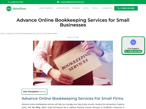 Advance Online Bookkeeping Services For Small Business   eBetterBooks