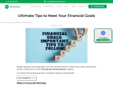 Financial Goals- Important Tips to Follow for Small Business Owners