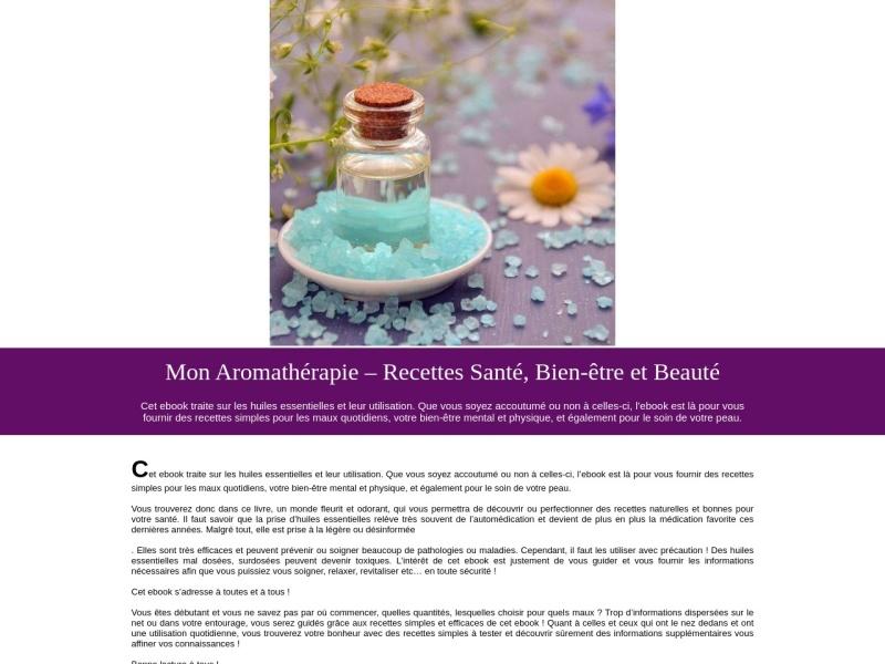 mon aromatherapie, recettes sante, bien-etre.