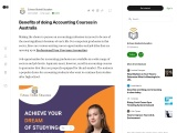 Benefits of doing accounting courses in Australia
