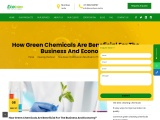 How Green Chemicals Are Beneficial For The Business And Economy?