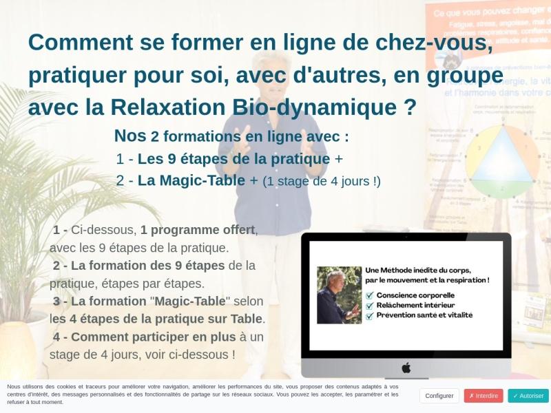accedez au 9 etapes de la relaxation bio-dynamique