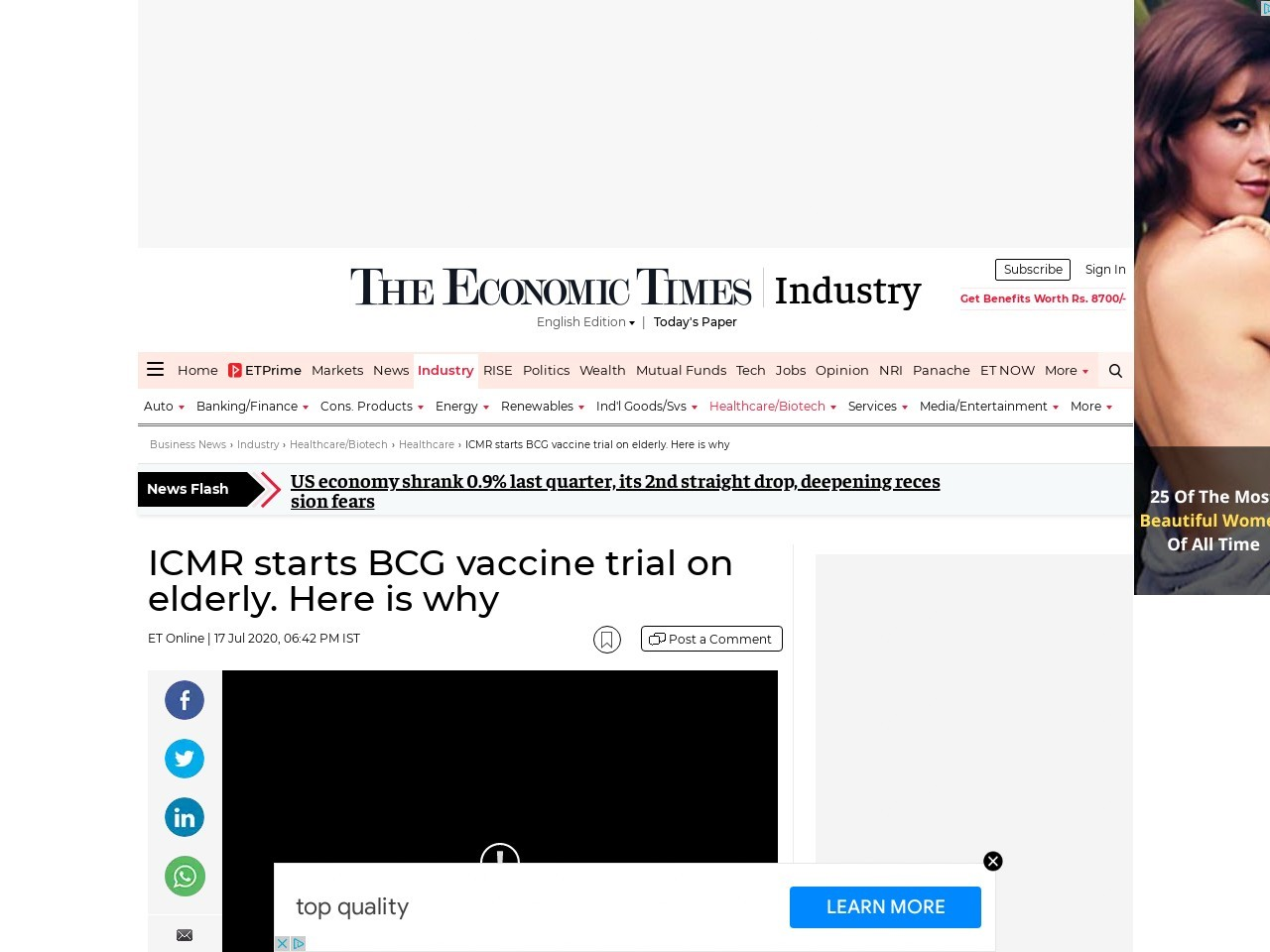 ICMR starts BCG vaccine trial on elderly. Here is why