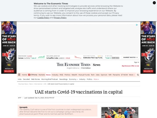 UAE starts Covid-19 vaccinations in capital
