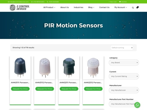 PIR motion sensors available in stock