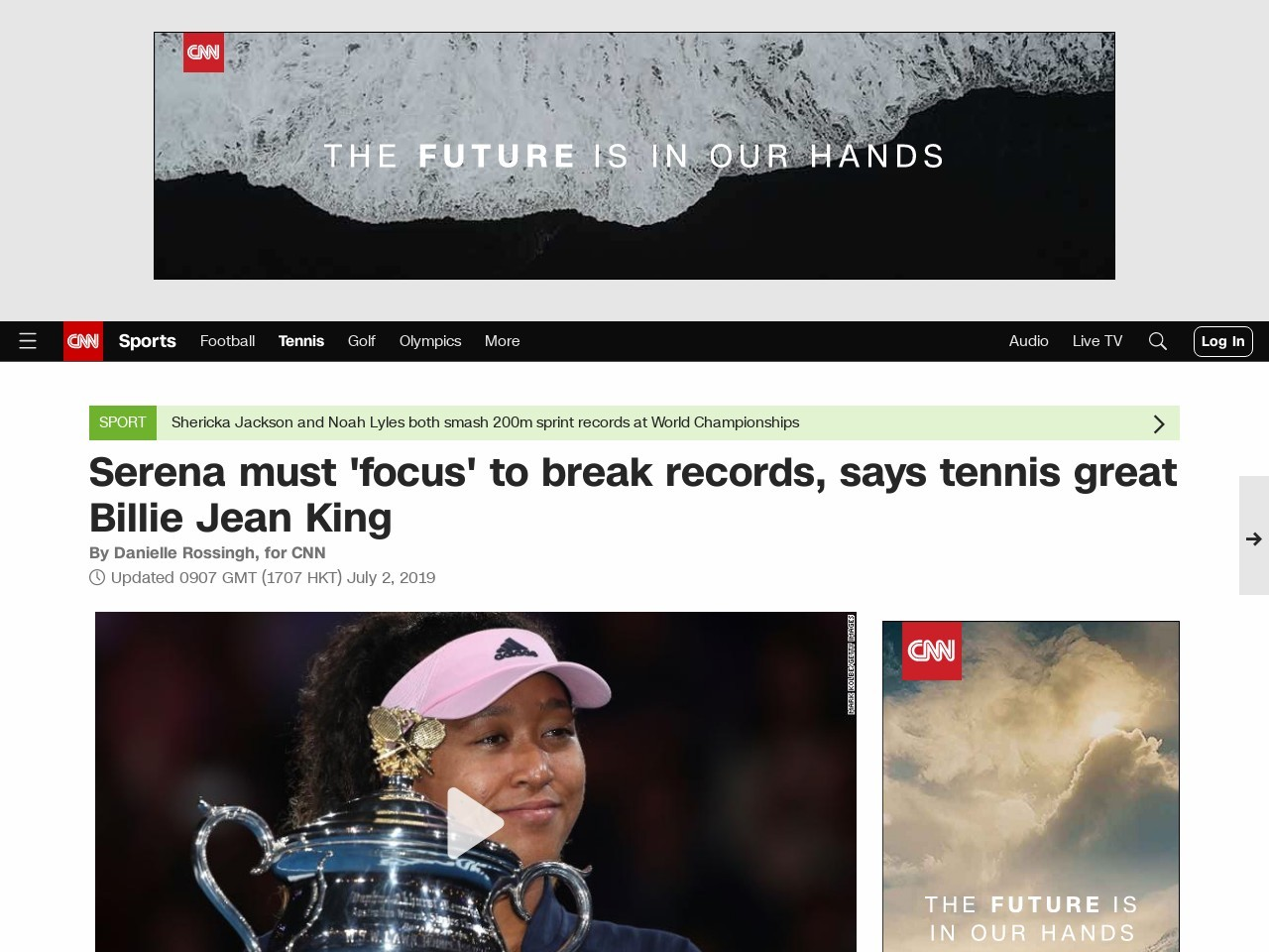 Serena Williams must 'focus' to break records, says Billie Jean King…