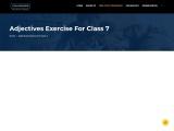 Adjectives Exercise For Class 7 | English Grammar | Edugross