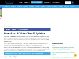 Download CBSE Class 12 Syllabus PDF