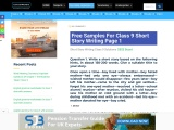 Download Class 9 short story writing