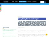 Class 9 Diary Entry | Edugross [Download For Free