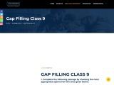 Gap Filling Class 9 | Edugross [Solved Exercises For Practice]
