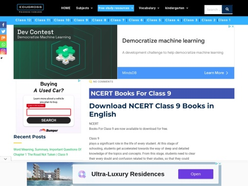 Download ncert books for class 9