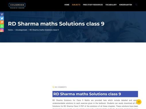 RD Sharma maths Solutions class 9 [DOWNLOAD FREE PDF