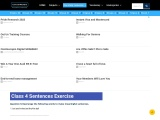 Sentence Exercises for Class 4 With Solutions