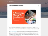 Is Technology Making Us Handicapped?