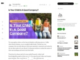 Is Your Child In A Good Company?