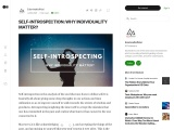 SELF-INTROSPECTION: WHY INDIVIDUALITY MATTER?