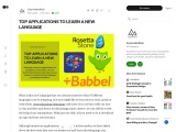 TOP APPLICATIONS TO LEARN A NEW LANGUAGE
