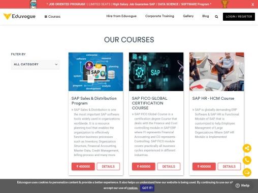 SAP Certification Courses at Eduvogue