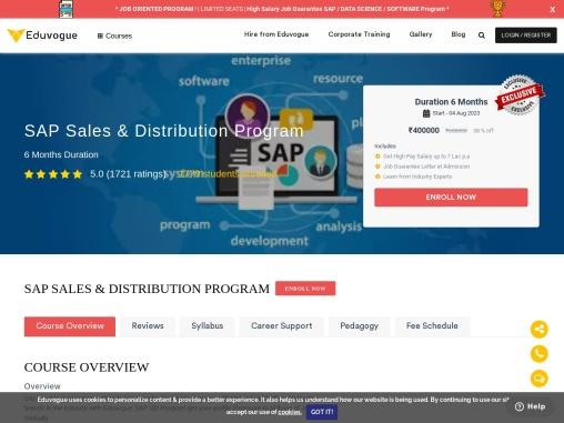 SAP Course training program by eduvogue