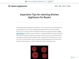 Imperative Tips for selecting Kitchen Appliances for Buyers