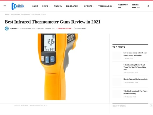 Best Infrared Thermometer 2021