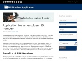 Application for an employer ID number