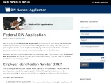 Federal EIN Application   Federal Identification Number (919) 504-6664