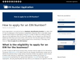 How to Apply For an EIN number?