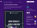 How should I apply for EIN online?