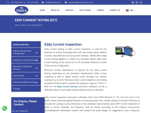 Eddy Current Testing in UAE  | Eddy Current Testing in Dubai | Eddy Current Testing