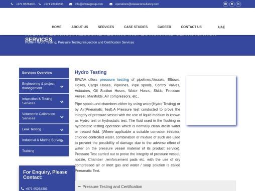 Pipe Freezing Services | Pressure Testing Companies UAE | Hydro Testing Services UAE