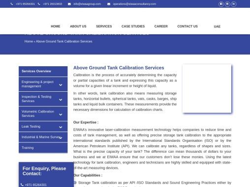 Tank Calibration Services | Tank Calibration Services UAE