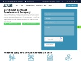 Defi Smart Contract Development Company   EIYSYS