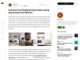 How does Free Standing Cooker help in saving Space Inside Your Kitchen?