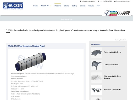 Heat Insulators, Flexible Insulators, Manufacturer, Supplier, India