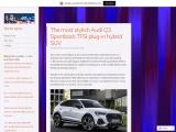 The new Audi Q3 Sportback 45 TFSI e compact SUV