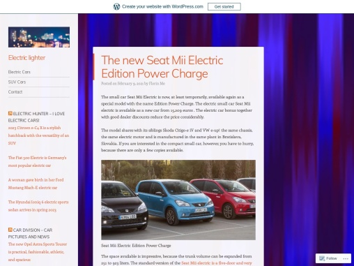 The new Seat Mii Electric Edition Power Charge