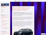 The electric car startup Elaris sells Chinese electric cars