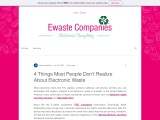 4 Things Most People Don't Realize About Electronic Waste