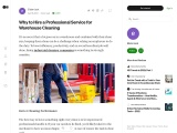 Why to Hire a Professional Service for Warehouse Cleaning